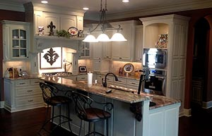 Custom cabinets designed and built by Bailey's Custom Cabinets